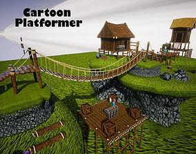 3D model Cartoon Platformer for UNREAL