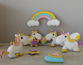 Plush - Unicorn - Pegasus 3D
