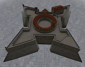 3D model Nice Fort Carre