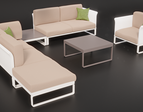 Outdoor Furniture Set 3D