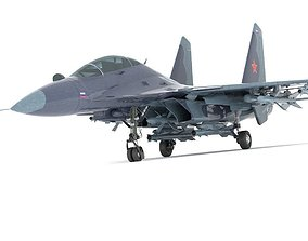 3D model sukhoi fighter jet f15 f16