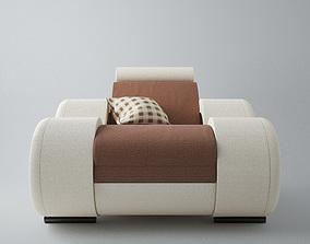 Modern Sofa 1x 3D