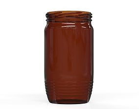 bottle Photorealistic glass jar 3D model
