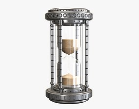 Hourglass sandglass egg sand timer clock 07 3D model