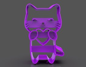 3D printable model Lovely Cat Cookie Cutter