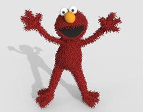 3D model Elmo Cartoon Character LowPoly