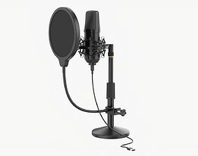 Microphone with stand cardioid USB 3D