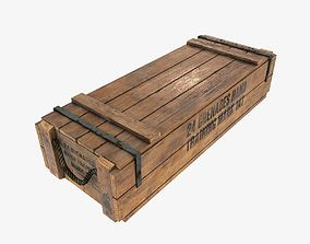 3D model US WWII wooden crate