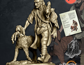 3D print model Hunter with Dog - Presupported presupported