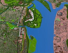 Alexandria City USA Nov 2020 3d model realtime