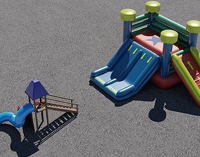 Slide and Inflatable 3D models