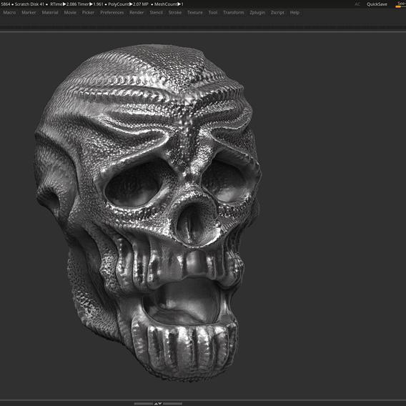 skull 02 3d print model