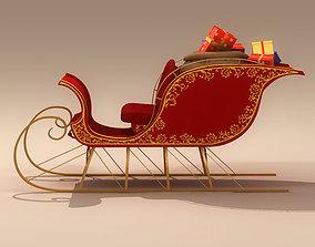 Santa Claus Sleigh 3D