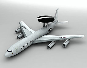 E-3 Sentry AWACS Aircraft LOW 3D model