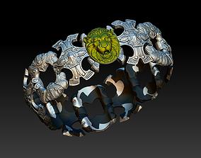 3D printable model Heavy Samurai Man King Lion Craved 2