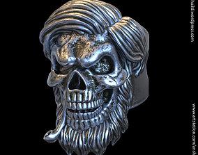 3D printable model Skull bearded vol5 ring