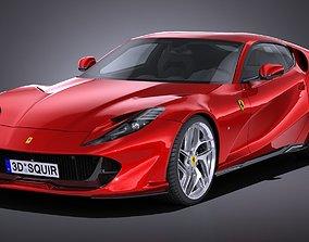 LowPoly Ferrari 812 Superfast 2018 3D model