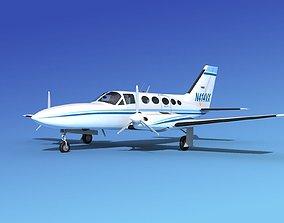 Cessna 414A Chancellor V06 3D