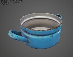 Rusty Blue Pot 3D model