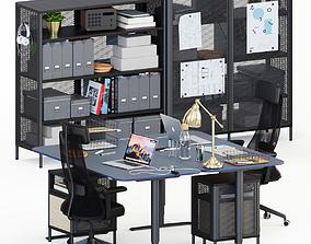 Ikea Bekant workplace 3D