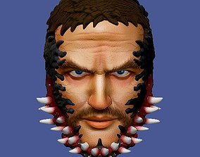 3D printable model CUSTOM head Eddie brock venomized movie