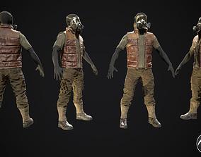 3D model Skull armor 10