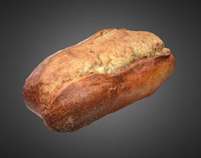 Bread Sourdough 001 3D asset