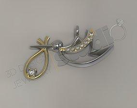 Luxury art pelican gem multi part model