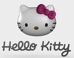 3D hello kitty logo