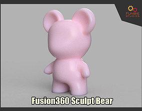 3D print model Fusion 360 Sculpt Bear