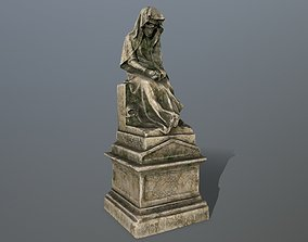3D model game-ready statue