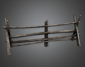 Outdoor Fence 16 GFS - PBR Game Ready 3D model