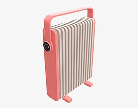 Electric heater radiator vertical 3D model