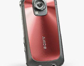 3D model Sony MHS-TS22 Bloggie Sport Red pocket