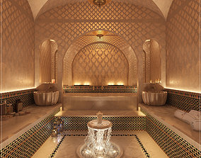 hammam 3D Moroccan Hammam Spa arabic bathroom