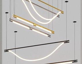 3D model Luke Artemis and Leto suspension lights