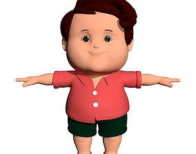 Cartoon Fat Boy 3D model