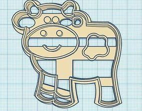 3D printable model Farm Animals Pig Horse Cow Sheep Chik 2