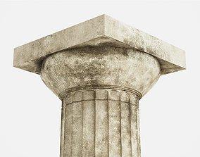 realtime Greek Doric Column 3D Model