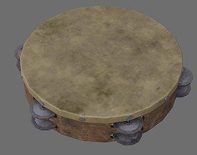 Tambourine 1B 3D asset