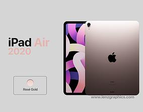Rose Gold 2020 iPad Air 11 inch 3D model green