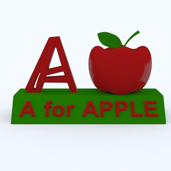 A for Apple Model