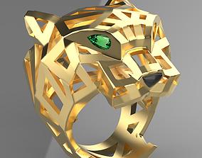 panther ring cheetah 3D print model