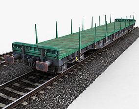 Flat Wagon 3D asset