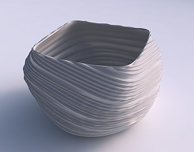 Bowl helix with twisted extruded lines 3D print model