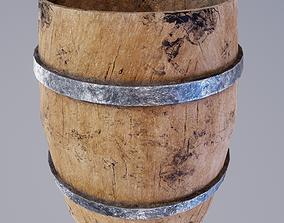 Dirt Barrel 3D asset