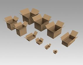 3D model Cardboard Boxes delivery