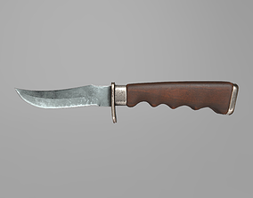 Combat Knife Game-Ready Midpoly PBR 3D asset