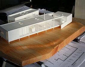 scale Modern Beach House 3D printable model