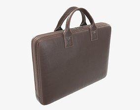 Leather laptop bag briefcase handbag 02 3D model